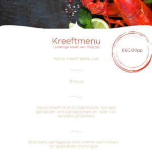 Kreeft menu